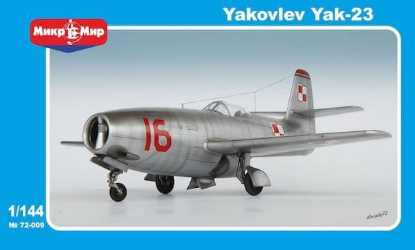 Micro-Mir 1/144 Yakovlev Yak-23 Soviet Fighter # 144-009