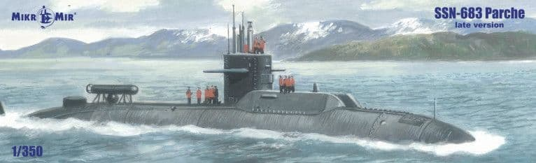 Micro-Mir 1/350 SSN-683 Parche (Late Version) Submarine # 350-39