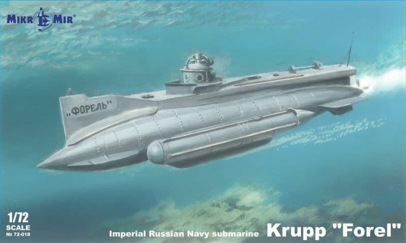 Micro-Mir 1/72 Krupp 'Forel' Imperial Russian Navy Submarine # 72-018