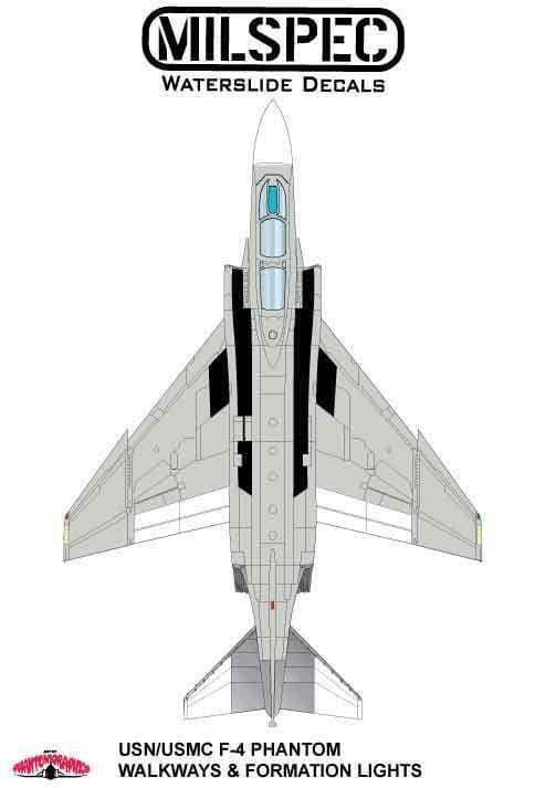 Milspec 1/32 McDonnell F-4B Phantom Walkways in 3 Colours # 32005