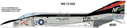 Milspec 1/72 McDonnell F-4N Phantom VF-161 CHARGERS # 72025