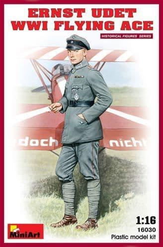 Miniart 1/16 Ernst Udet WWI Flying Ace # 16030