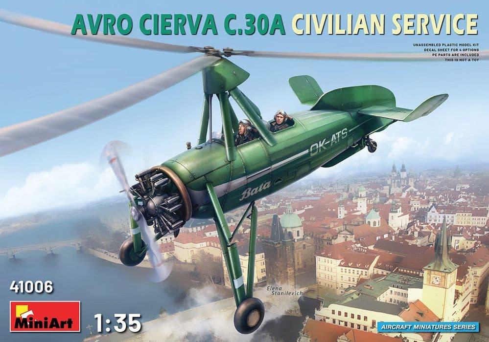 Miniart 1/35 Avro Cierva C.30A Civilian Service # 41006