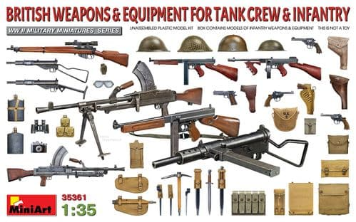 Miniart 1/35 British Weapons & Equipment for Tank Crew & Infantry # 35361