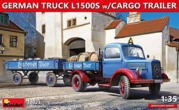 Miniart 1/35 German Truck L1500s w/ Cargo Trailer # 38023