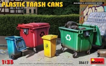 Miniart 1/35  Plastic Trash Cans # 35617