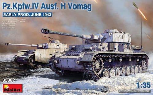 Miniart 1/35 Pz.Kpfw.IV Ausf. H Vomag Early Prod # 35302