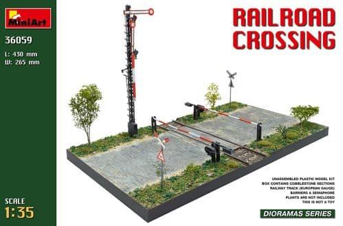Miniart 1/35 Railroad Crossing Diorama # 36059