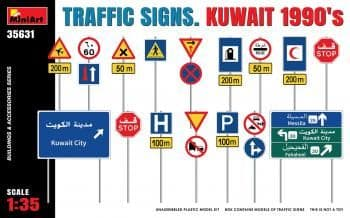 Miniart 1/35 Traffic Signs Kuwait 1990's # 35631