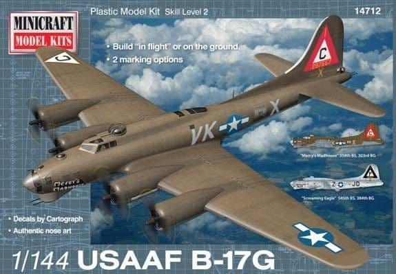 Minicraft 1/144 Boeing B-17G USAAF # 14712