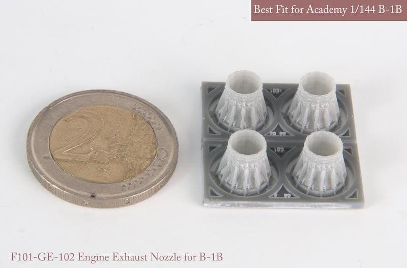 Mk.1 Design 1/144 Rockwell B-1B GE Exhaust Nozzle Set (Closed) # MA-14402
