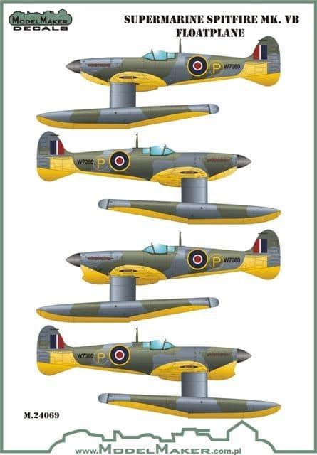 Model Maker Decals 1/24 Supermarine Spitfire MK.Vb Floatplane # MD24068