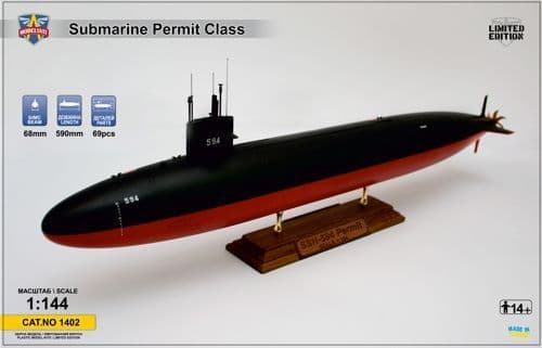 Modelsvit 1/144 USS Permit (SSN-594) Submarine # 1402
