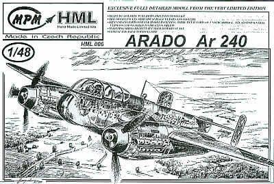 MPM 1/48 Arado Ar-240 # HML06