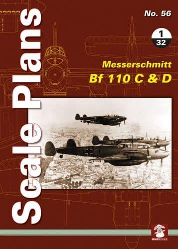 Mushroom - Scale Plans No.56 Messerschmitt Bf-110 C&D Maciej Noszczak # 056