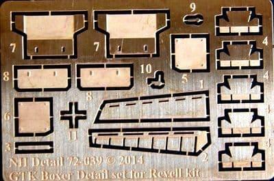 NH Detail 1/72 GTK Boxer (GTFZ A1) Detail Set # NHM72039