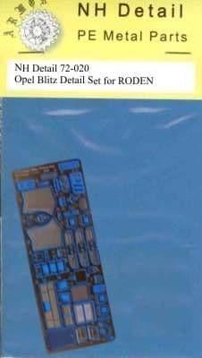 NH Detail 1/72 Opel Blitz Kfz.385 Tankwagen Detail Set # NHM72020