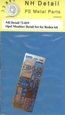 NH Detail 1/72 Opel Maultier (Sd.Kfz.3) Detail Set # NHM72019