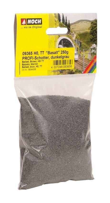 NOCH - Basaltic Rock Dark Grey Profi Ballast (250G) # N09365