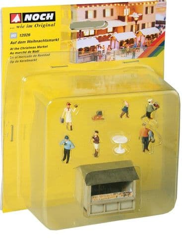 NOCH HO Scale 'At The Christmas Market' Deco Scene # N12026