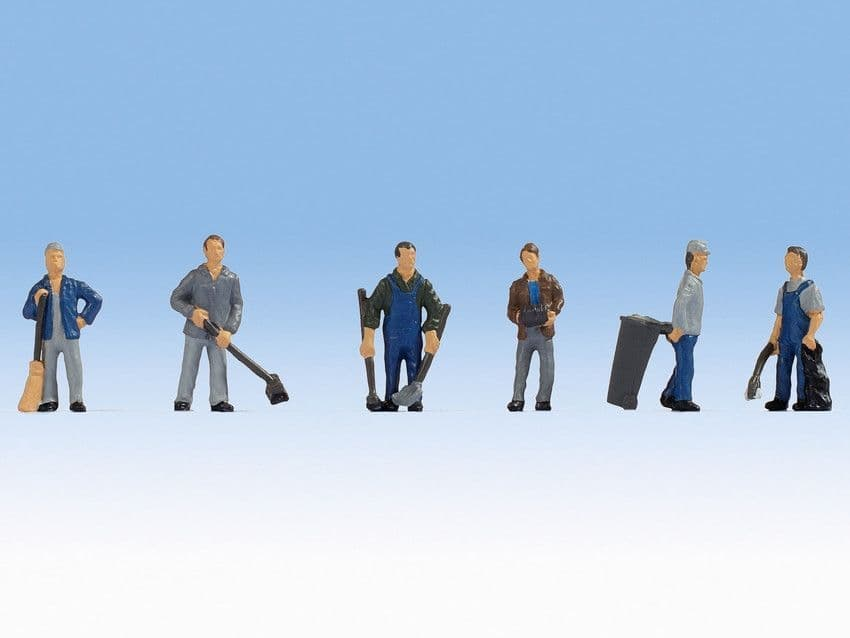 NOCH HO Scale Caretakers (6) Figure Set # N15116