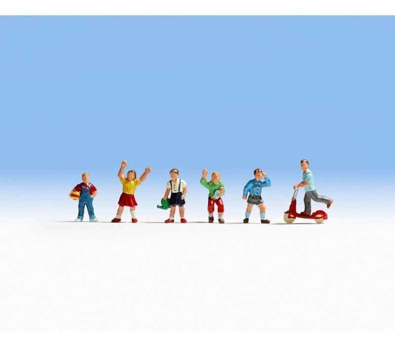 NOCH HO Scale Children (6) Figure Set # N15815