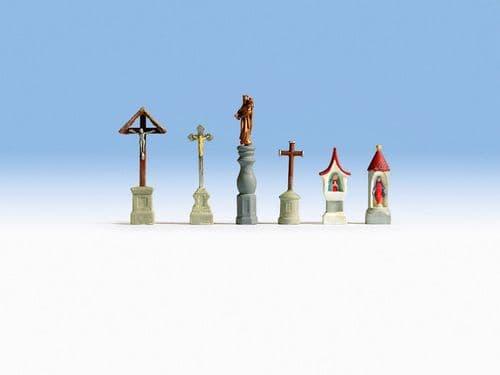NOCH HO Scale Christian Symbols Accessory Set # N14870