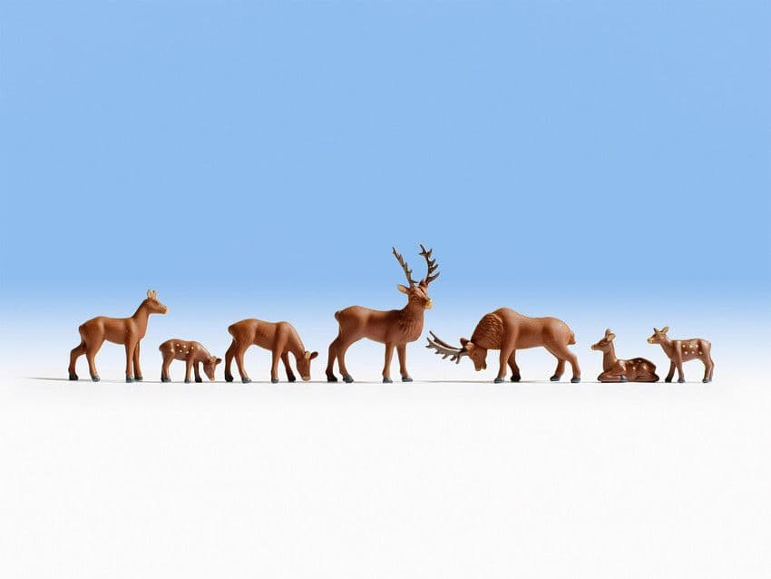 NOCH HO Scale Deer (7) Figure Set # N15730