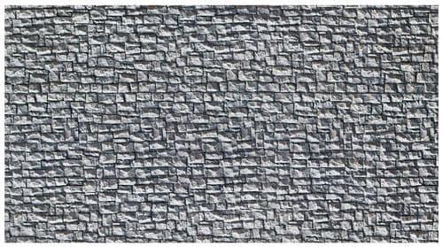 NOCH HO Scale Extra Long Quarrystone Wall Hard Foam 65 x 12.5cm # N58255