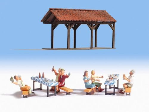 NOCH HO Scale 'Garden Party' Deco Scene # N12031