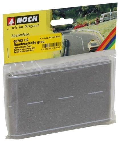 NOCH HO Scale Grey Road 100 x 8cm # N60703