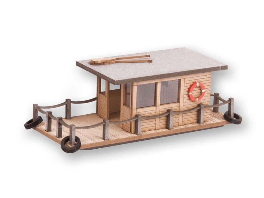 NOCH HO Scale Houseboat Laser Cut Minis Kit # N14224