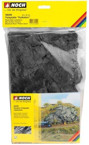 NOCH HO Scale Limestone Rock Wall Hard Foam 32 x 18cm # N58490