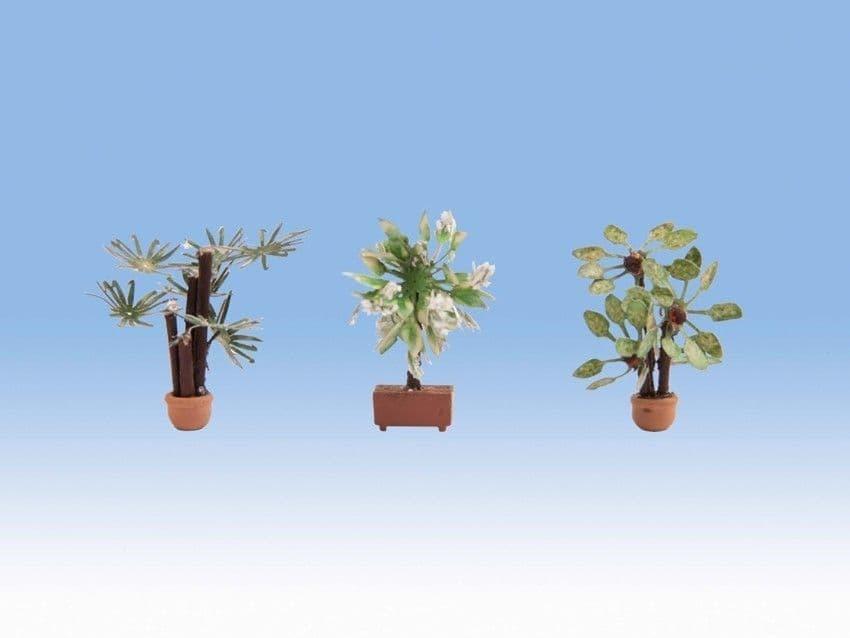 NOCH HO Scale Mediterranean (3) Ornamental Plants # N14023