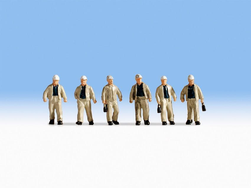 NOCH HO Scale Miners (6) Figure Set # N15042