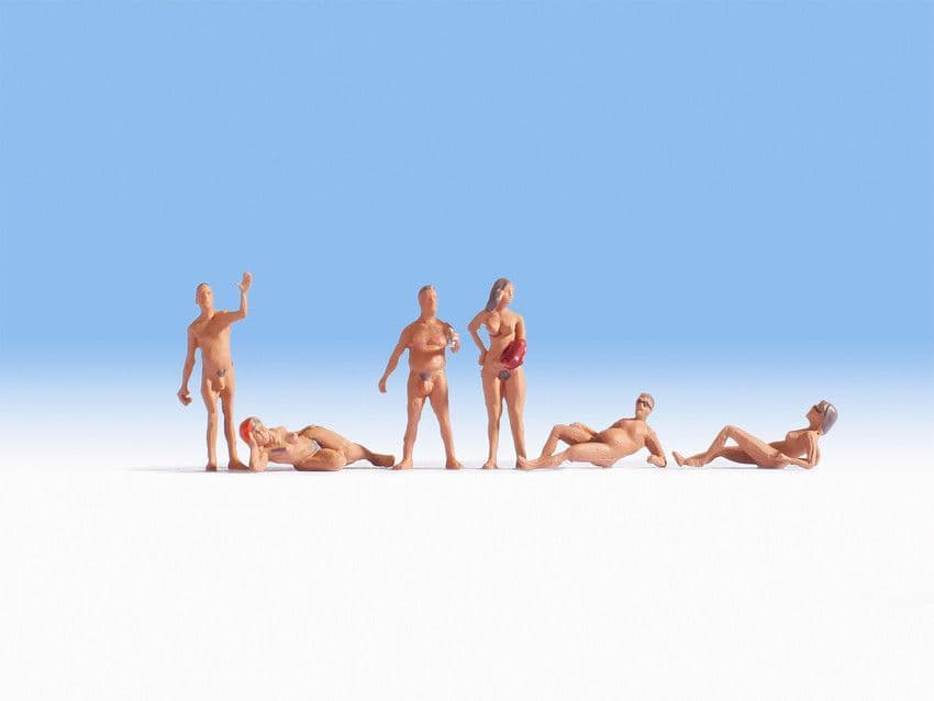 NOCH HO Scale Nudists (6) # N15843
