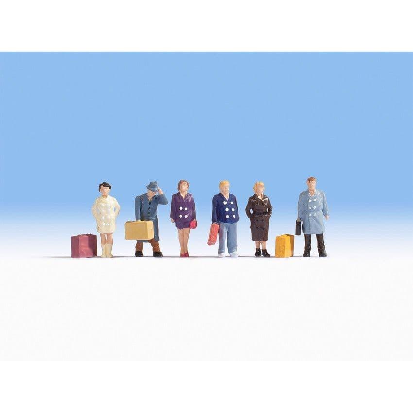 NOCH HO Scale Passengers (6) Figure Set # N15219