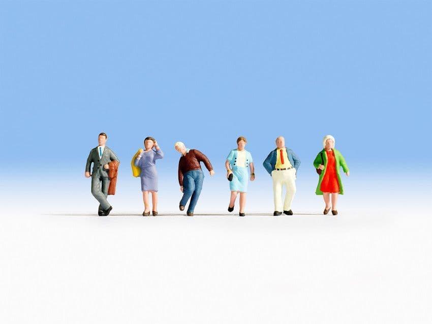 NOCH HO Scale Passengers (6) Figure Set # N15225