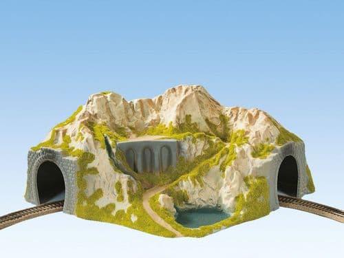 NOCH HO Scale Single Track Curved Tunnel 41 x 37 x 20cm # N05130