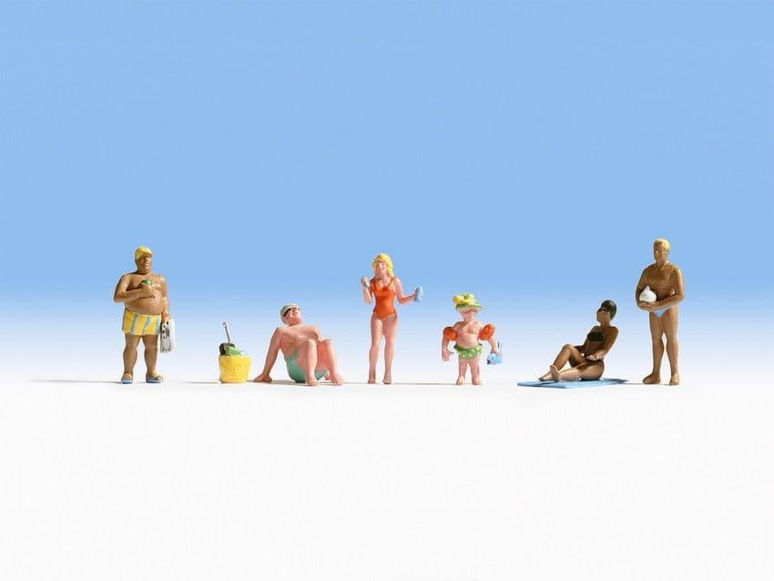 NOCH HO Scale Sunbathers (6) # N15850