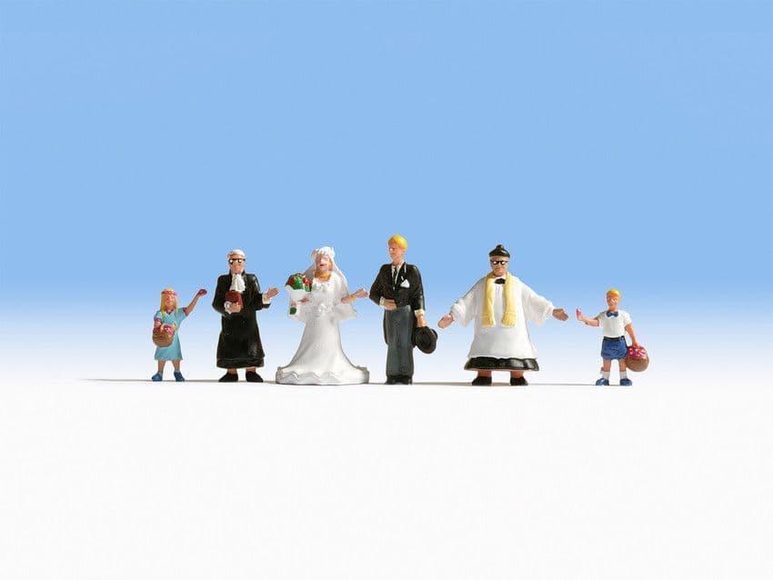 NOCH HO Scale Wedding Group (6) Figure Set # N15860