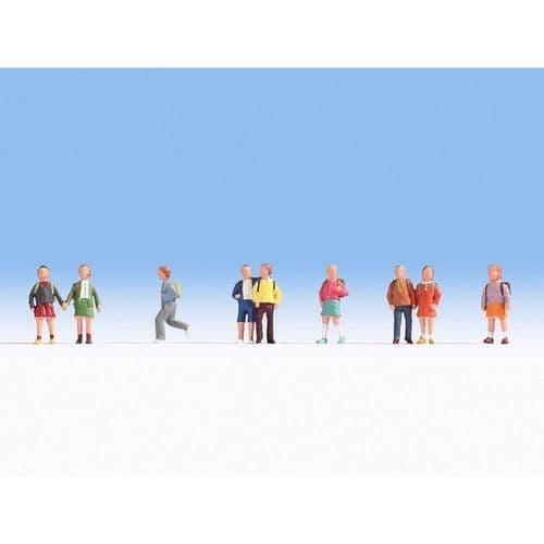 NOCH N Scale Children (9) Figure Set # N36809