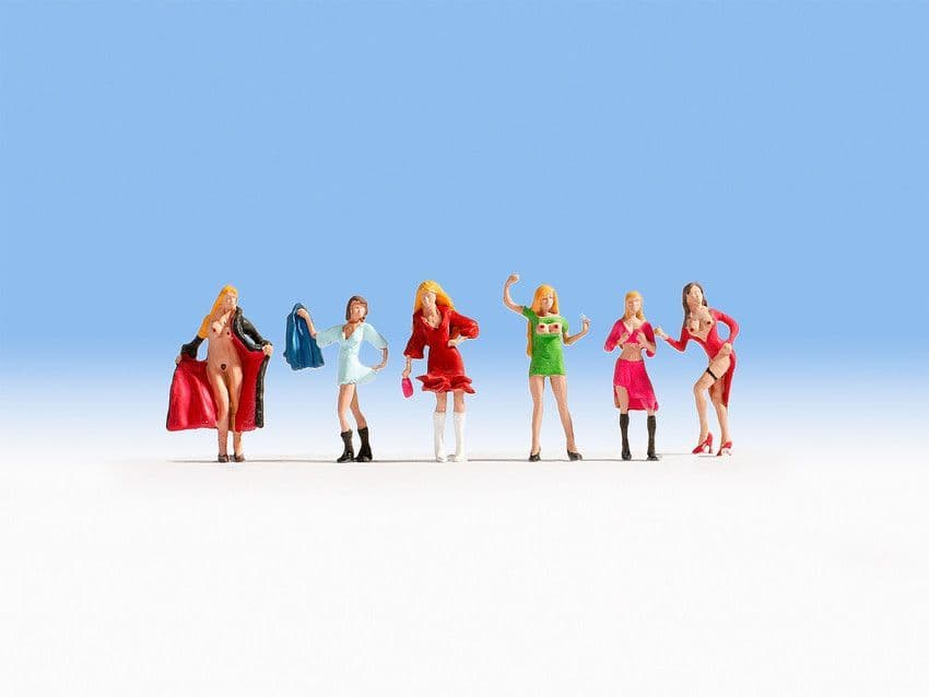 NOCH N Scale Ladies Of The Night (6) Figure Set # N36959