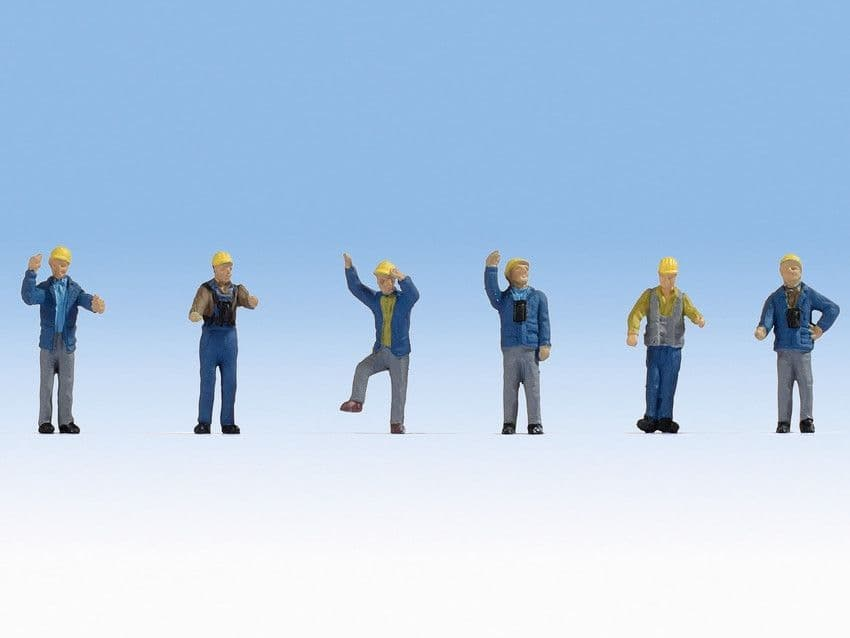 NOCH N Scale Railway Shunters (6) Figure Set # N36279
