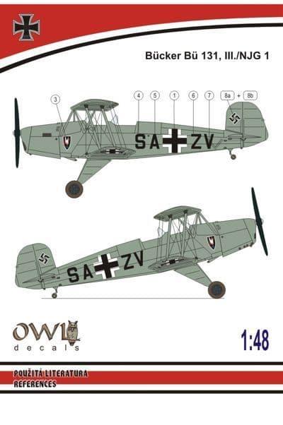 Owl 1/48 Bucker Bu-131 III./NJG 1 # DS4814