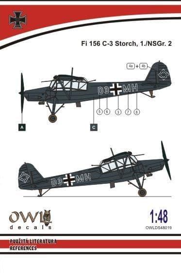Owl 1/48 Fieseler Fi-156C 'Storch' Nachtschlacht # DS4819