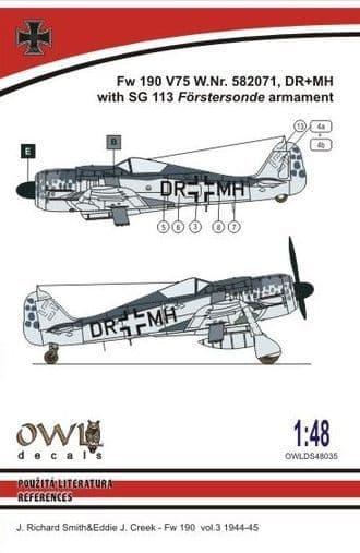 Owl 1/48 Focke-Wulf Fw-190F-8 SG 113 Armament # DS4835