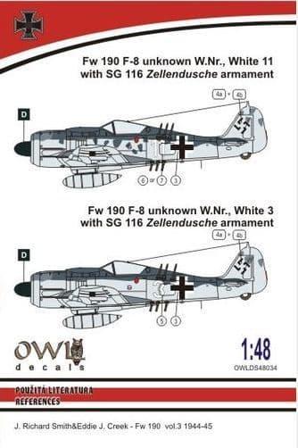 Owl 1/48 Focke-Wulf Fw-190F-8 SG 116 Armament # DS4834