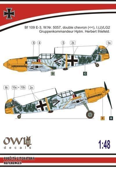Owl 1/48 Messerschmitt Bf-109E PeilGIV Day Fighter (Ihlefeld) # DS4808