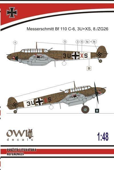 Owl 1/48 Messerschmitt Bf-110C-6 Tropical with MK 101 Day Fighter # DS4807